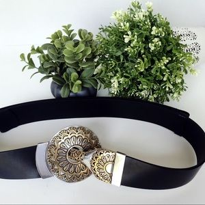 Chico's Accessories - CHICO's Medallion Leather Belt